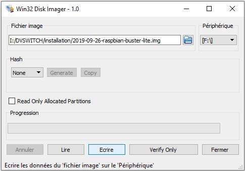 DVswitch mobile - Tutoriel d'installation sur Raspberry Pi 3 sans dongle USB - DMR/C4FM/DSTAR/P25/NXDN 01-ecriture-image-syst-eploit-carte-sd