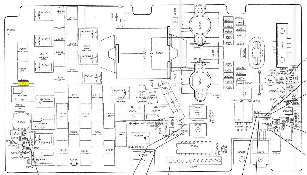 YAESU FT847 : Absence de réception HF et 50 MHz Implant-pa-unit-DS004