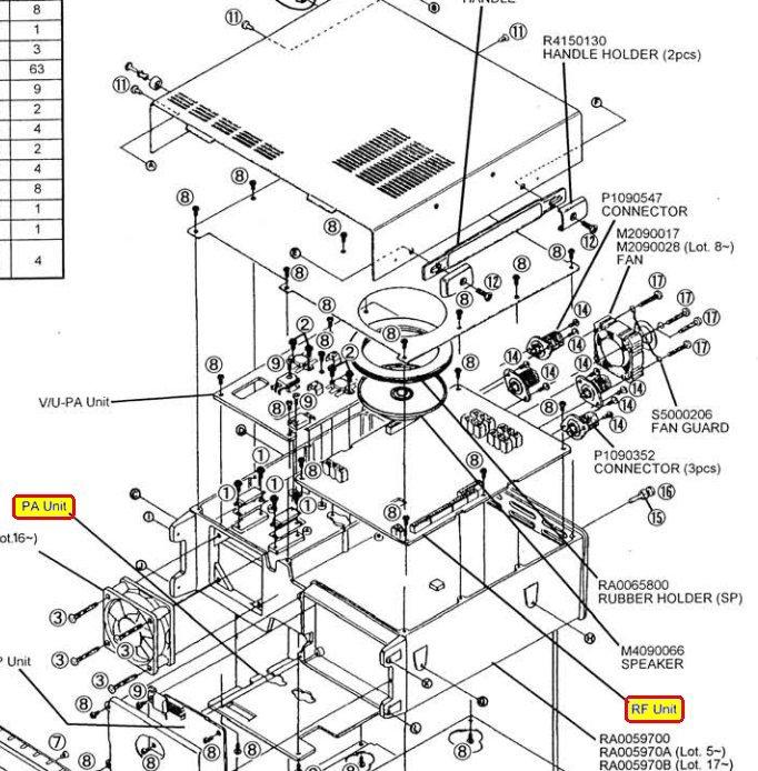 YAESU FT847 : Absence de réception HF et 50 MHz Visu-cartes