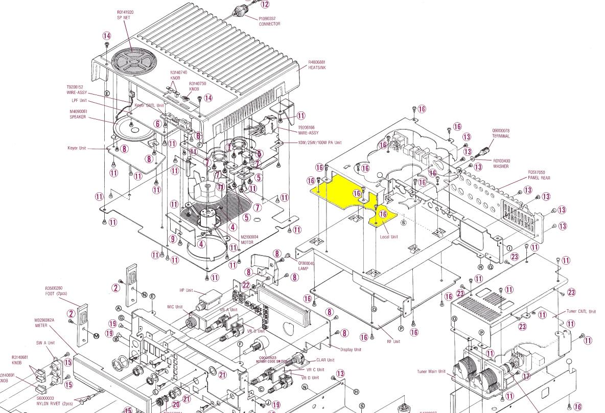 Yaesu FT890 : Dérive en fréquence  Emplacement