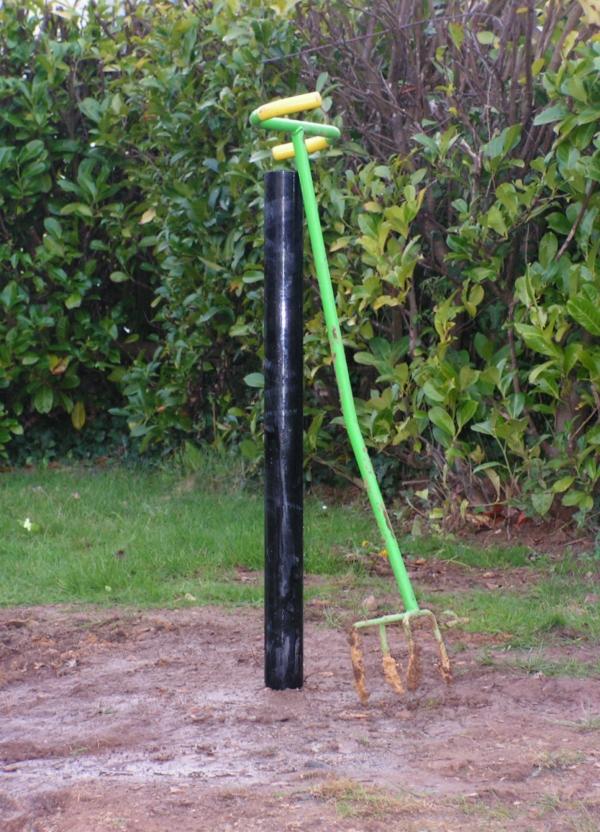 Spiderbeam : Fixation dans le sol Mat-spiderbeam-18m-enterre
