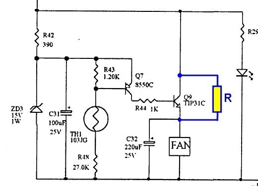 Diamond GSV3000 : Alimentation bruyante au démarrage - Modification de la gestion de la vitesse du ventilateur Regul-gsv3000-r-supp