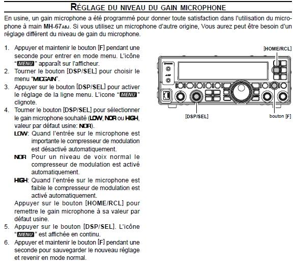 FT450 Yaesu : Avis FT450-reglage-micro