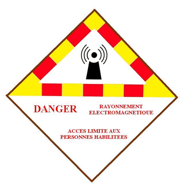 Danger des rayonnements électromagnétiques Panneau