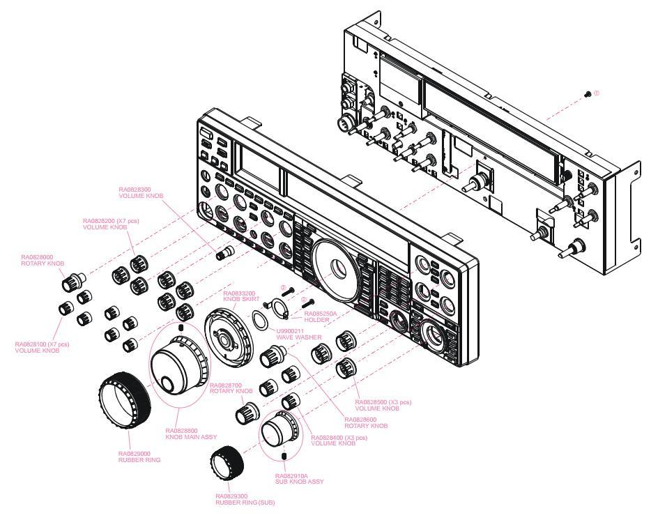 FT2000 Yeasu : Panne / Défaut de fonctionnement du volume Face-avant
