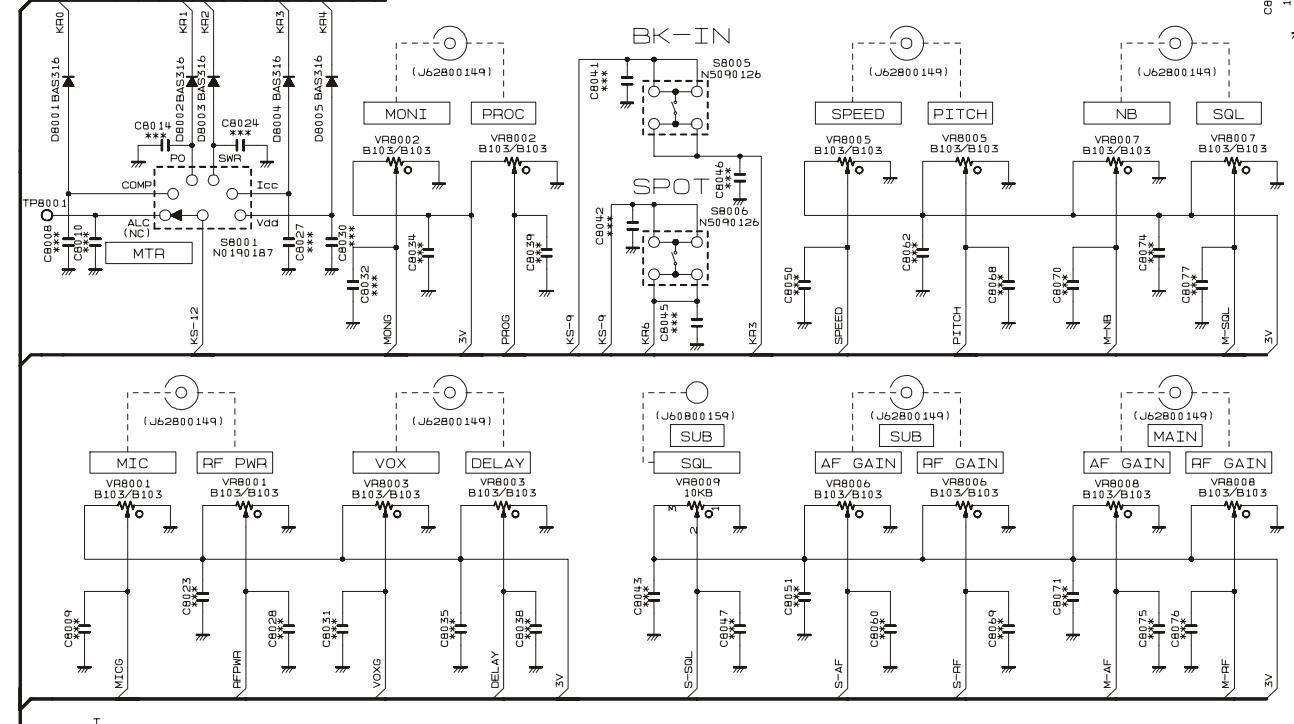 FT2000 Yeasu : Panne / Défaut de fonctionnement du volume Schema