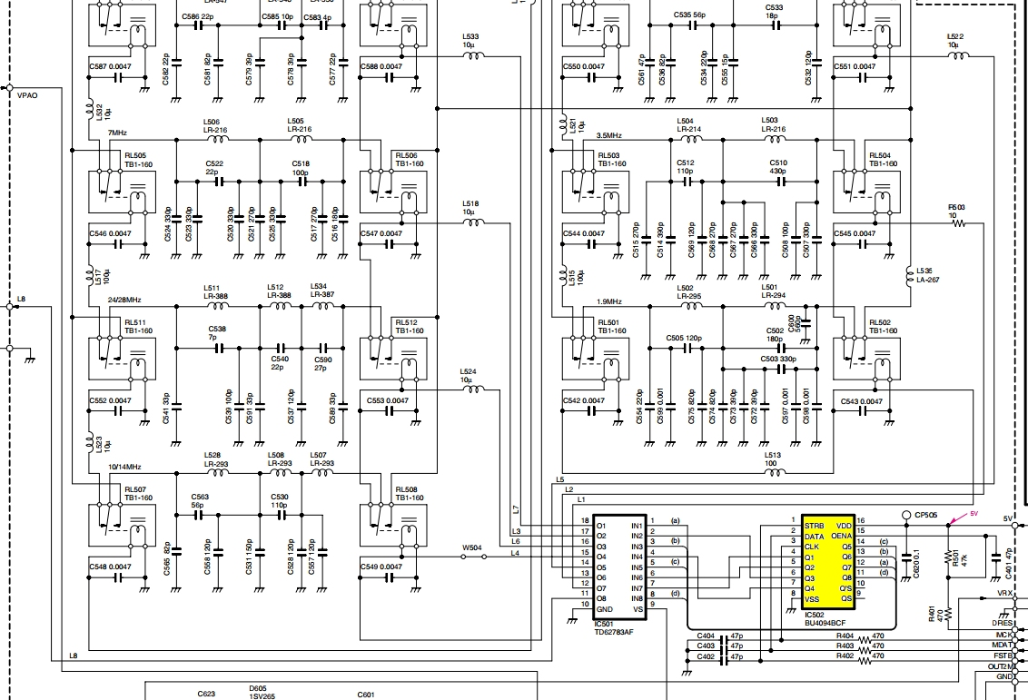 IC7400 ICOM : Panne d'émission - Absence de commutation de relais Panne-relais