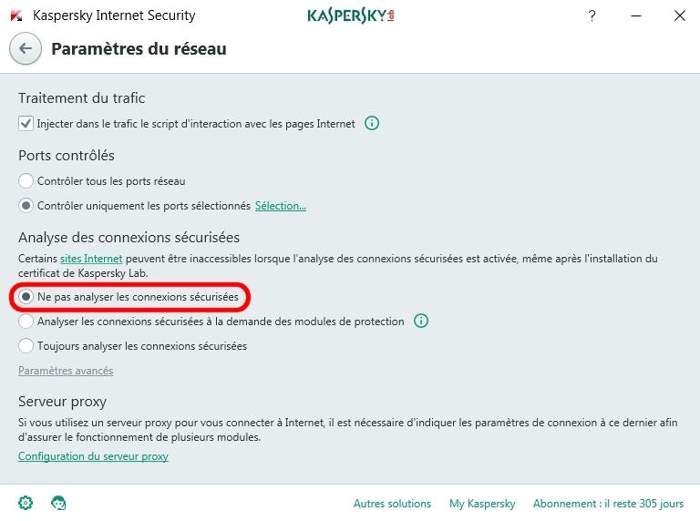 """Blocage Navigateur Firefox : Message """" La connexion n'est pas sécurisée """"  Kaspi03"""
