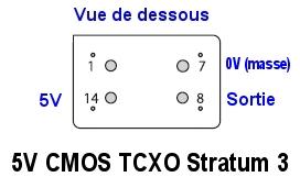 TCXO pour Kenwood : Oscillateur de référence compensé en température à prix intéressant Modele-5V-tcxo-stratum-3