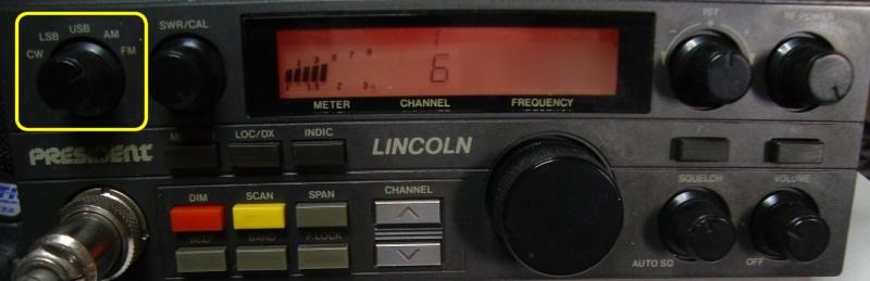 Président Lincoln : Pas d'émission-réception en FM Face_av