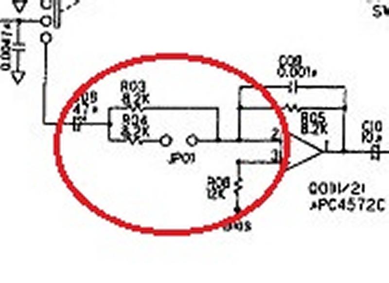 MD100 : Augmenter de 3dB le niveau d'entrée Md-100-circuit-zoom