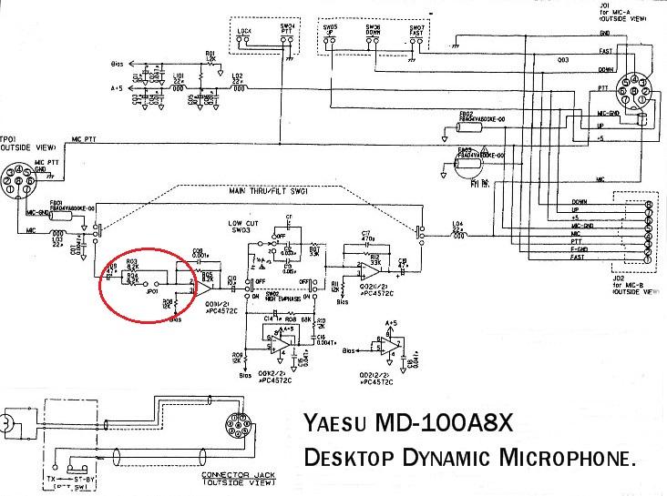 MD100 : Augmenter de 3dB le niveau d'entrée Md-100-circuit
