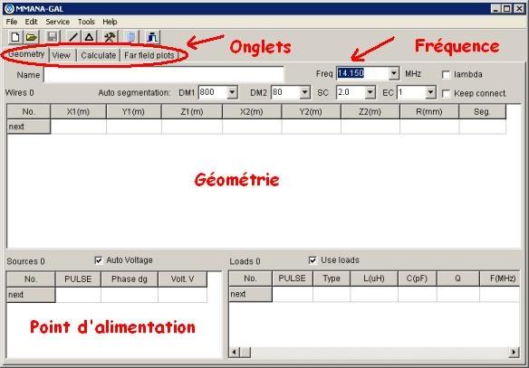 MMANA : Diagramme de rayonnement d'antenne - Exemple d'utilisation Image1